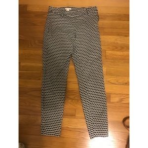 H & M black and White Dress Pants